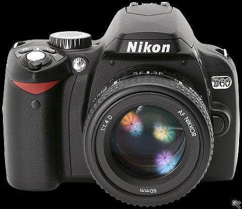 Цифровой фотоаппарат Nikon D60 Kit - фото, характеристики, отзывы, описание, обзор