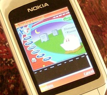 Nokia 6290 displaying homestarrunner.com