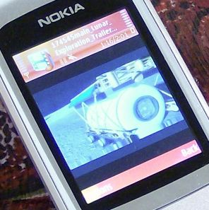 Nokia 6290 video player